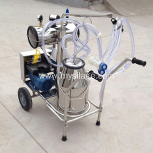 milking machine with stainless steel bucket